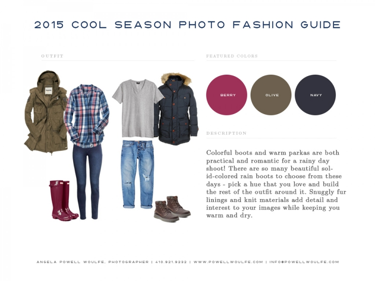 Family & Couples Photography - What to Wear Fall 2015